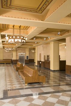 The interior of the Cheyenne, Wyoming Depot today reflects the way it looked in 1929.