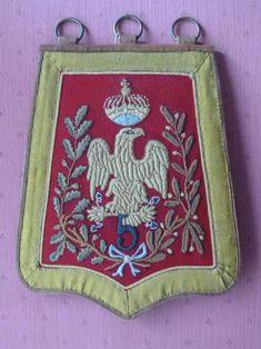 Sabretache du 5e régiment de Hussards vers 1805-1812. Empire, Napoleonic Wars, Military History, Sketches, Embroidery, Preston, Handmade, Painting, Peace