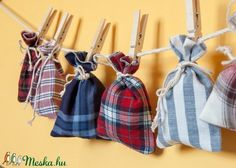 Eco Advent Calendar Set Not Only For Kids: Small Checkered Bag … – Shirt Types Advent Calenders, Plaid Fabric, Small Gifts, Types Of Shirts, Upcycle, Calendar, Kids, Clothes, Christmas