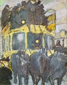The Panthéon-Courcelles Omnibus, 1890, Pierre Bonnard. French Nabi Painter (1867 - 1947)