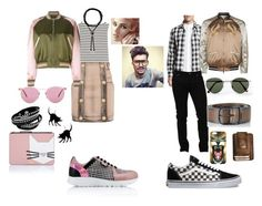 """""""TWO OF A KIND"""" by ruthietowery ❤ liked on Polyvore featuring Karl Lagerfeld, Vans, Oliver Peoples, Pierre Balmain, Yves Saint Laurent, Valentino, Balmain, Topman, Dolce&Gabbana and Diesel"""