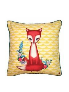 So cute fox pillow! Vintage Design, Vintage Decor, Retro Vintage, Vintage Modern, Cute Pillows, Throw Pillows, Fox Pillow, Pillow Talk, Cushion Pillow