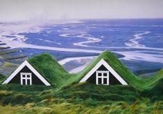Turf House, an Icelandic Traditional House