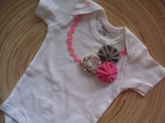 The Frayed FLower Collection YoYo Onesie  by AbbysAccesssories, $14.00
