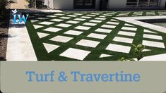 The client didn't want just turf or just travertine. In an effort to make them happy, we were able to do this amazing combo. Synthetic Grass Warehouse 90oz Everlast - Tacoma and Desert Limestone pavers come together for a look that is perfect for the client.