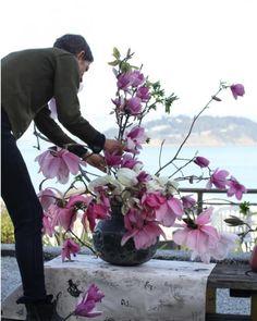 Foraged Ikebana arrangements