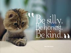 Be silly. Be honest. Be kind. - Ralph Waldo Emerson #quote pic.twitter.com/laaOosebZF