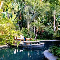 See how a boring Southern California yard gota stunning Hawaiian makeover, complete with tropicalplants and a lagoon
