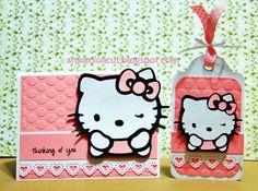 amo mi cricut: Hello kitty tag and card