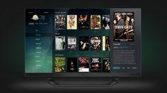 Clean TV UI / UX Design & TV Design