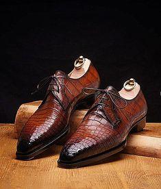 9a9d15f798e8 Formal Alligator Oxford Alligator Leather Dress Shoes for Men