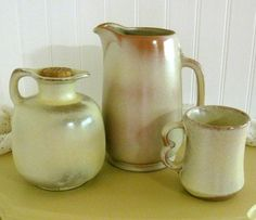 I picked this pitcher at an antique mall today! Love frankoma pottery