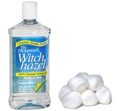 To Reduce Swollen Eyes--  Witch Hazel:  American Indians used witch hazel for inflammation. Use a gauze pad or cottonballs soaked in witch hazel as a compress over closed eyes. Witch hazel has astringent properties and will help reduce the swelling.