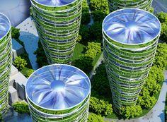 Paris Smart City 2050 with 8 Plus-Energy Towers | Vincent Callebaut