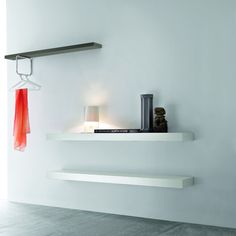 'Geometry' wall unit and shelves for hallway and other rooms. Simple and elegant design.
