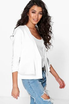 Molly Peplum Collarless Blazer