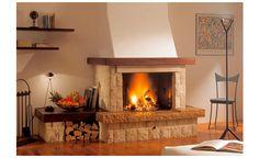 Lareira Rustica Dama Edilkamin Cozy Fireplace, Modern Fireplace, Fireplace Surrounds, Fireplace Design, Fireplace Mantels, Fireplaces, Living Room Remodel, Home Living Room, Fireplace Remodel