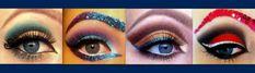 Different eye makeup