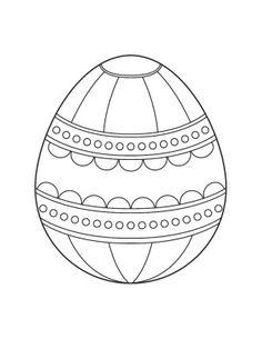 Easter Egg Coloring Pages - Coloring Point - Coloring Point Easter Egg Coloring Pages, Spring Coloring Pages, Coloring Book Pages, Coloring For Kids, Printable Coloring Pages, Adult Coloring, Easter Art, Easter Crafts, Desenho Kids