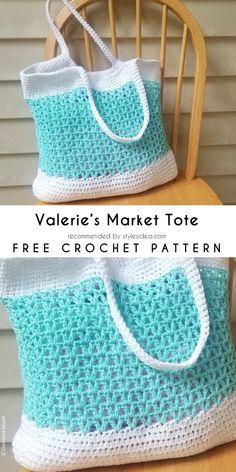 Valerie's Market Tote Free Crochet Pattern | #crochet #tote #patterpattern