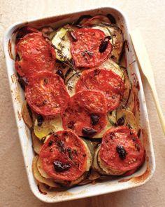 Provencal Vegetable Tian - use a small potato or a sweet potato