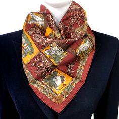 Carre de Paris, Shop Authentic Hermes Scarves, Shawls and More Hermes Men, Rolled Hem, Alexander Mcqueen Scarf, Vintage Designs, Ready To Wear, Shawls, Blazer, Silk, Trending Outfits