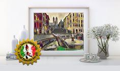 """ROMA piazza di Spagna - Città Italiane - stampe artistiche  - foto da incorniciare - con Pinocchio """"fridge magnet"""" in omaggio di IMMAGINEeIDEA su Etsy"""