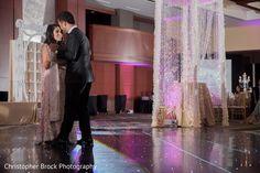Indian couple first dance at wedding reception http://www.maharaniweddings.com/gallery/photo/107018 @electrickarma @chrismbrock/wedding-photography @electrickarma