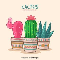 More than 3 millions free vectors, PSD, photos and free icons. Exclusive freebies and all graphic resources that you need for your projects Cactus Drawing, Watercolor Cactus, Cactus Art, Cactus Planta, Cactus Y Suculentas, Cactus Backgrounds, Backgrounds Free, Cactus Vector, Paint Your House