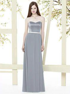 Dessy Social Bridesmaide 8153 Platinum size 6