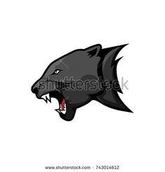 mascot panther head vector logo concept. Modern badge mascot design