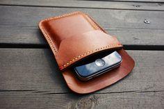 004  Mens Leather Wallet - Slim Front Pocket Leather Wallet, Groomsmen Gift, Handmade, Hand-stitched, Card Holder