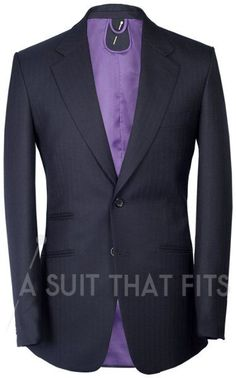 Well tailored, be nice in deep purple with black pinstripe