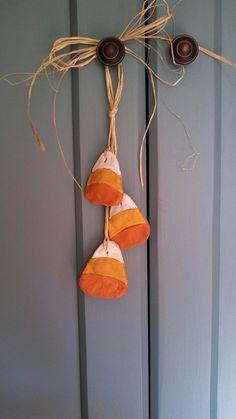 Country Salt Dough Candy Corn Halloween Ornament, Primitive, Decor  WHY NOT FELT ???