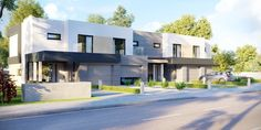 DOM.PL™ - Projekt domu CPT HomeKONCEPT-52 B2 CE - DOM CP1-63 - gotowy koszt budowy Tandem, Mansions, House Styles, Outdoor Decor, Home Decor, House Architecture, Decoration Home, Manor Houses, Room Decor