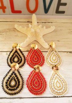 Seed Bead Earrings, Beaded Earrings, Seed Beads, Handmade Wire Jewelry, Earrings Handmade, Crochet Beaded Bracelets, Crochet Earrings, Soutache Jewelry, Wire Wrapped Earrings