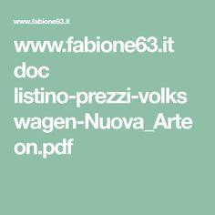 www.fabione63.it doc listino-prezzi-volkswagen-Nuova_Arteon.pdf