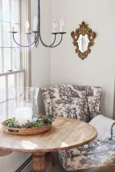 Toile Chair via A Country Farmhouse