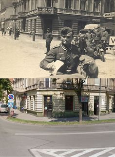 Then and Now WWII. German Army in Radomska, Poland, during World War Two. Our World, World War Two, Rare Historical Photos, German Army, World History, Then And Now, Diorama, Ww2, Poland