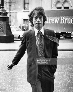 Mick Jagger, singer and songwriter with British rock group the Rolling Stones, in London to appear in court over his divorce settlement.