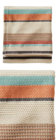 Give your home some colorful flair with our Asbury Throw by Pendleton. This striped design is inspired by the beautiful motifs crafted by weavers in Chimayo, New Mexico, and made with a blend of cotton...  Find the Asbury Throw by Pendleton, as seen in the Default Collection at http://dotandbo.com/category/bed-and-bath/bedding/default?utm_source=pinterest&utm_medium=organic&db_sku=126742