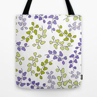 Tote Bag featuring Swirly Leaves One by Robin Gayl