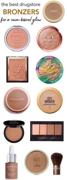The Best Drugstore Bronzers For a Soft, Sun-Kissed GlowYou can find Best drugstore makeup and more on our website.The Best Drugstore Bronzers For a Soft, Sun-Kissed Glow Mac Bronzer, Too Faced Bronzer, Bronzer For Fair Skin, Bronzers For Dark Skin, Good Drugstore Bronzer, Concealer, Bronzer Makeup, Drugstore Makeup Dupes, Glow Makeup