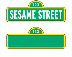 Sesame Street Sign and Blank Sign only - svg, dxf, eps, png, Pdf - Cricut Explorer - Silhouette Cam Custom Birthday Banners, Birthday Banner Template, Printable Banner, Sesame Street Signs, Sesame Street Party, Sesame Street Coloring Pages, Street Banners, Sesame Street Invitations, Blank Sign