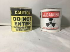 Novelty Toilet Roll Set – 2 Pieces: Caution / Danger / Do Not Enter - Brand New Do Not Enter Sign, Hazardous Waste, Wet Floor, Pro Choice, Novelty Gifts, Markers, Toilet, Red And White, Brand New