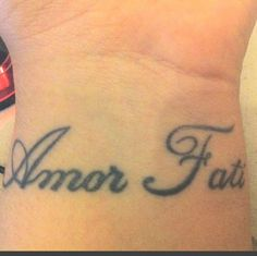 "Amor Fati is a Latin phrase loosely translating to ""love of fate"" or ""love of one's fate"". It is used to describe an attitude in which one sees everything that happens in one's life, including suffering and loss, as good. It is characterized by an acceptance of the events or situations that occur in one's life. The phrase is used repeatedly in Friedrich Nietzsche's writings."