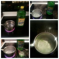 Fabuloso- smells oh so good!  1/4 cup water 1/4 cup Fabuloso--boil water add the Fabuloso and smell the freshness♥