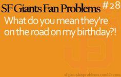 BRAVES problems!  My birthday always falls during the All Star Break!  Uggghhh!