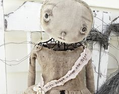 Tattered Angel Standing Mannequin Cage Doll Metal Industrial Steam Punk Dirty Primitive Hand Made Fabric ooak Veenas Mercantile Kim Kohler Primitive Pumpkin, Primitive Stitchery, Primitive Crafts, Primitive Christmas, Pop Art, Primitive Doll Patterns, Types Of Buttons, Look Older, Art Dolls