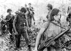In the jungles of El Salvador, a young girl with the left wing FMLN guerrilla movement, starts another day of brutal civil war. Circa 1983 - Visit to grab an amazing super hero shirt now on sale! San Salvador, El Salvador Food, Salvadoran Civil War, El Salvadorian, Liberation Theology, Tourist Places, American Revolution, World History, Central America